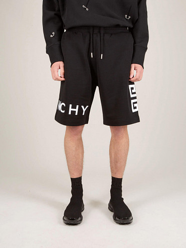 Boxing Fit Embroided Shorts black