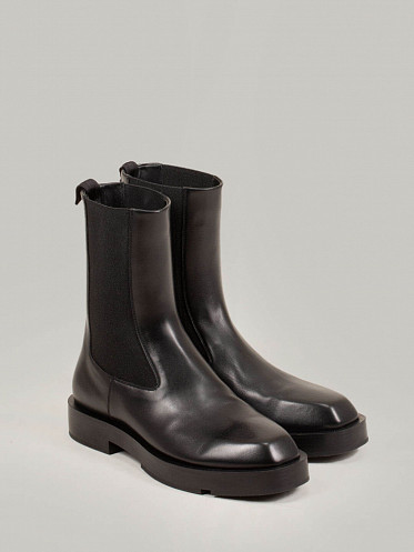 Squared Chelsea Ankle Boot black