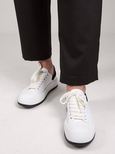 Deck Lace-Up Plimsoll white