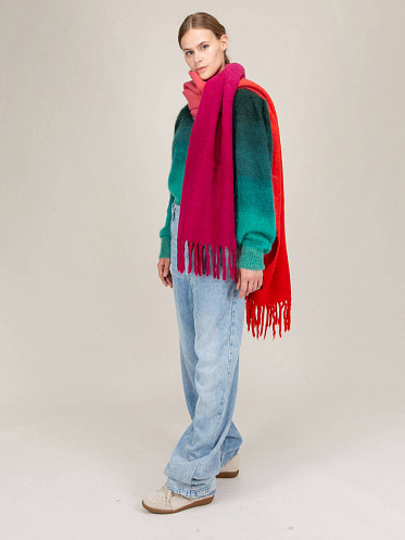 /Firna Scarf pink//red/