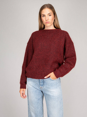 Knit Sweater deep red