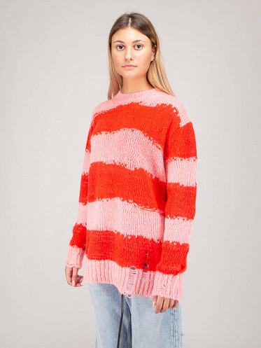 Knit pink red