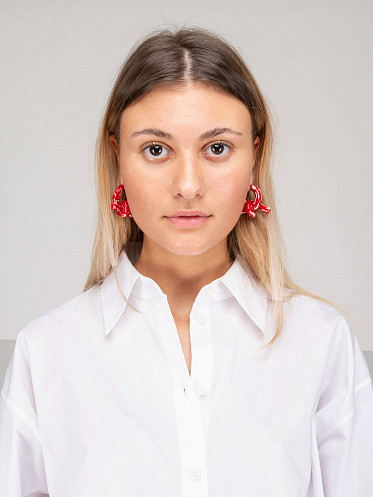 Candy Cane Earring red