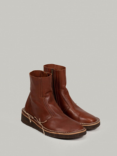 Leather Ankle Boots chestnut brown