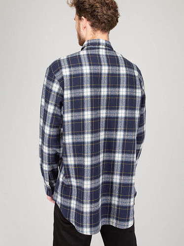 Chemise Loose Poches navy