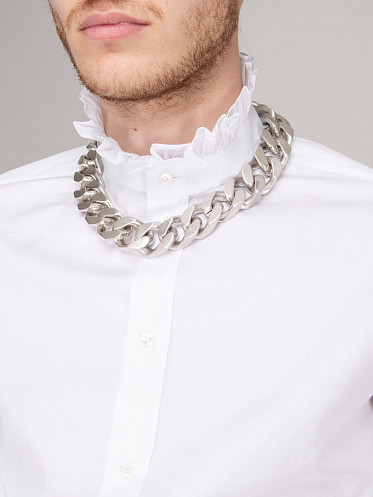 Teen Knight Poem Chain Necklace silver