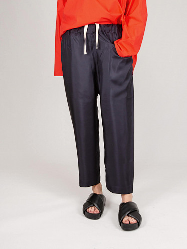Low Crotch Cropped Pants navy