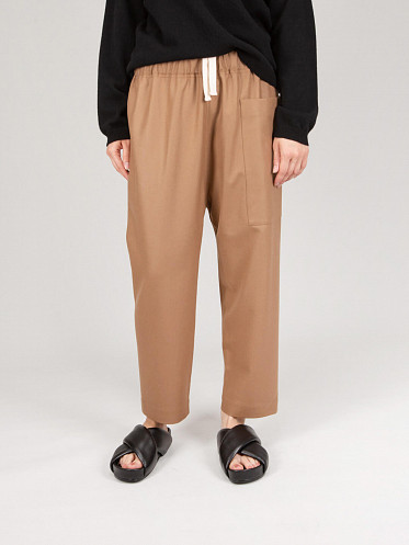 Low Crotch Cropped Pants toffee