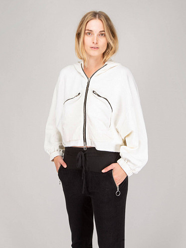 Hooded Zip-Up white