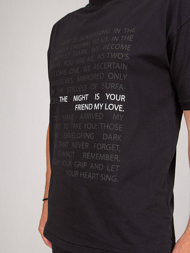 The Night Is Your Friend My Love T-Shirt black