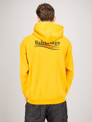 Medium Fit Political Campaign Hoodie yellow