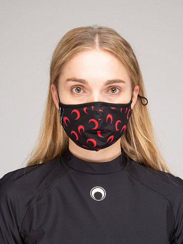 All Over Moon Daily Mask red