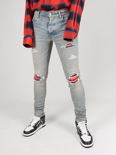 Plaid MX1 Jeans clay red