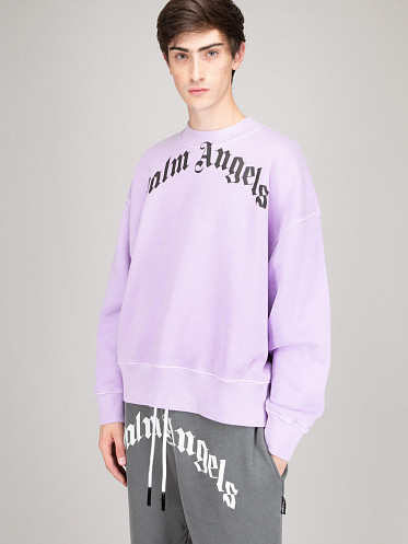 Curved Logo Crew lilac