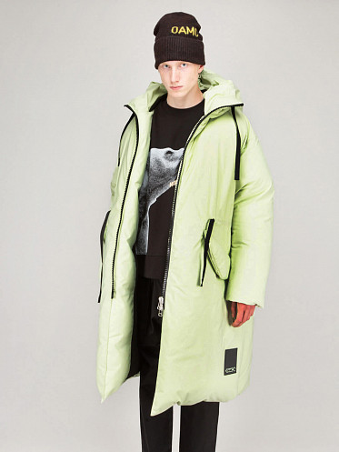 Inflate Parka washed lime