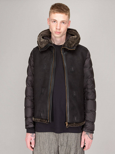Shearling Hooded Liner grey