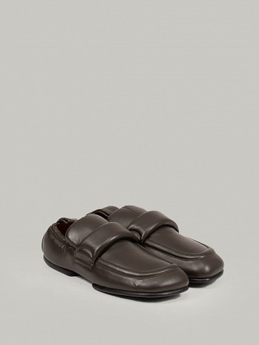 Leather Loafers olive