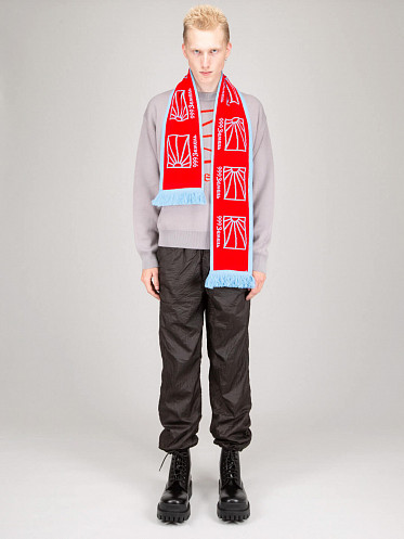 Scarf Knit red blue