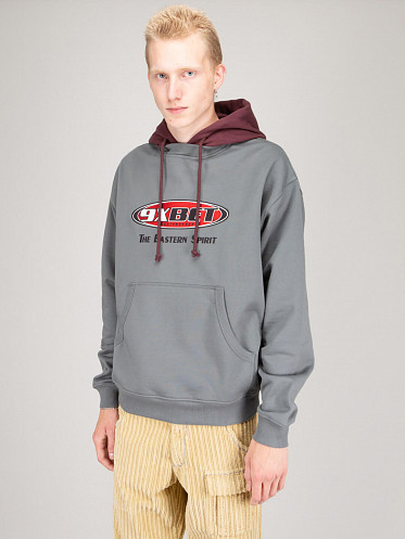 Embroidered Hoodie Knit grey