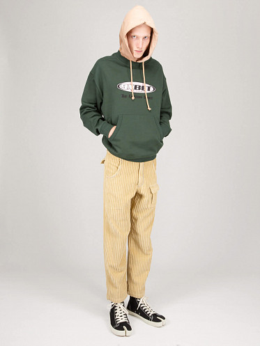 Embroidered Hoodie Knit green