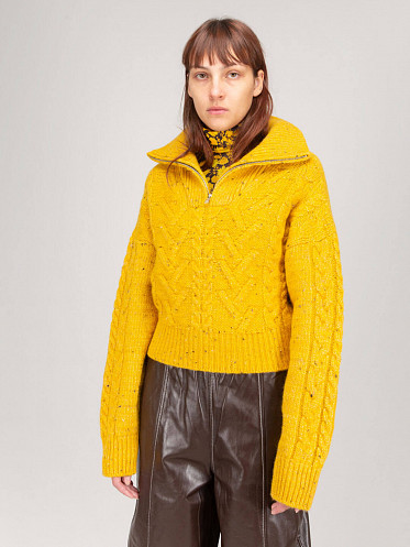 Cable Knit spectra yellow