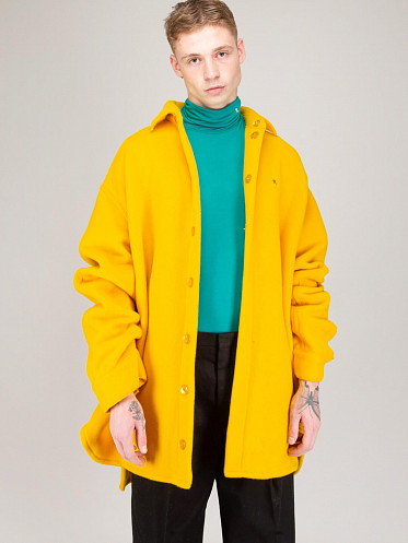 Extremely Big Outerwear Shirt yellow