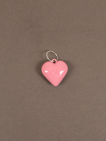 """Big Heart Earring with """"R"""" pink"""
