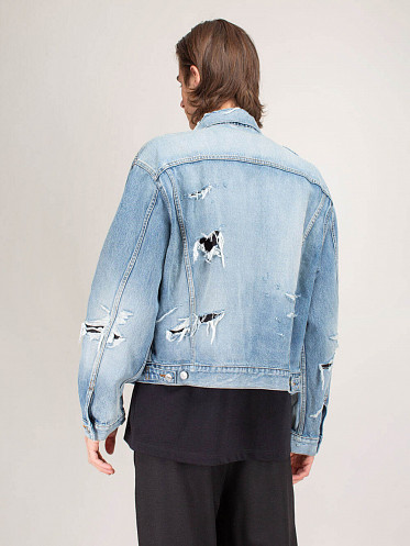 Ripped Jacket Dirty vintage blue
