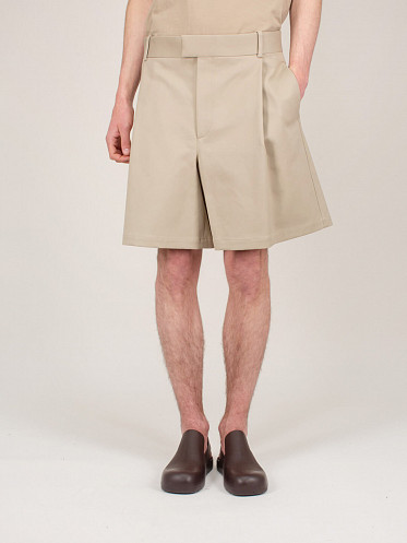 Sanded Double Shorts beige