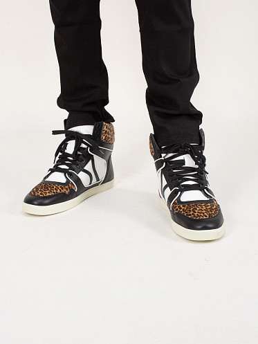 Leopard Mid Lace Up Sneaker