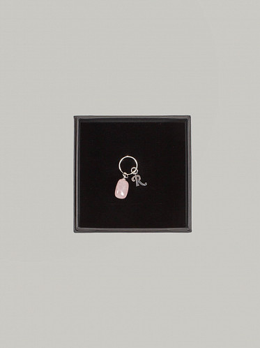 Small Stone Earing pink