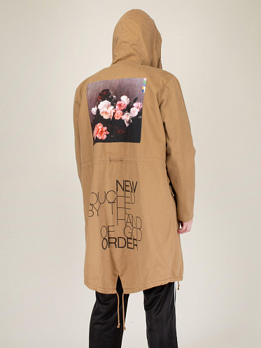 Handpainted Parka With Badge