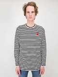 Striped Longsleeve black white