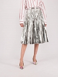 Silver Mid Lenght Skirt