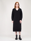 Long Knitwear black Dress
