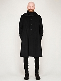 Wide Scarf Coat black coal