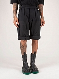 Wide Fit Rolled Up Shorts black