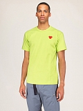 Mens Tee Green Red Heart