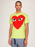 Mens T-Shirt Green Red Heart