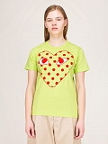 Ladies T-Shirt Polkadot green