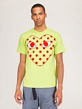 Mens T-Shirt Green Polkadot