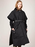 Wadded Cape black