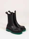 Vegetal Calfskin Boots black green