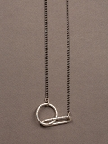 M3879 Necklace Hammered link+circle