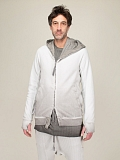 faded light grey Zip Up Hoodie
