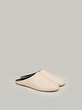 Soft Leather Flat Mules off white